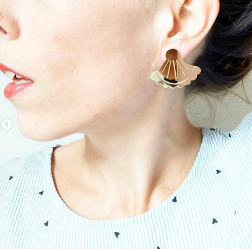 Boucles d'oreilles éventaille