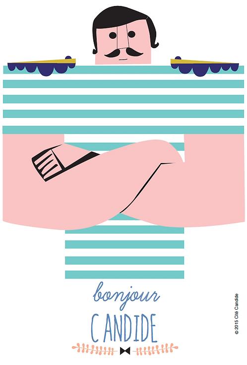 Carte Bonjour Candide