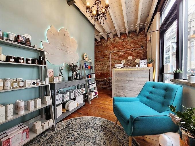 Nirvana waiting room, spa, massage, acupuncture, facials