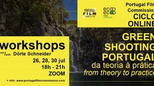 """Workshops """"Green Shooting Portugal – Da teoria à prática"""" -  26, 28 e 30 de julho de 2021"""