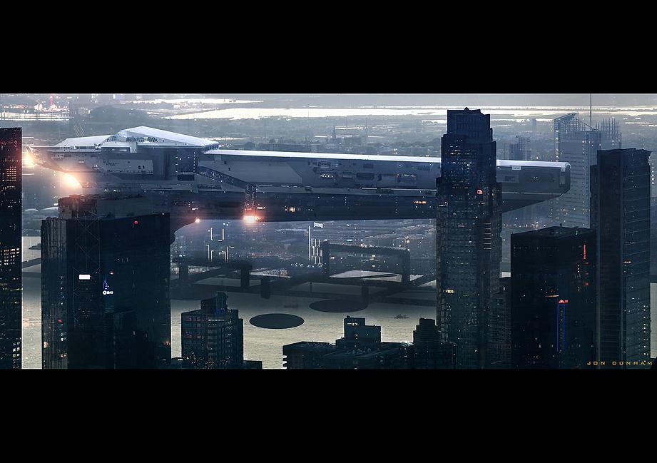 Spaceship in Port
