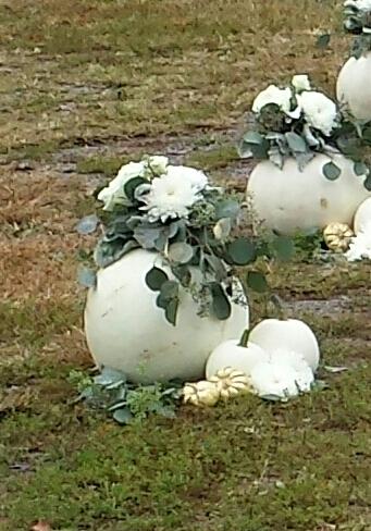 White Pumpkin Aisle Marker