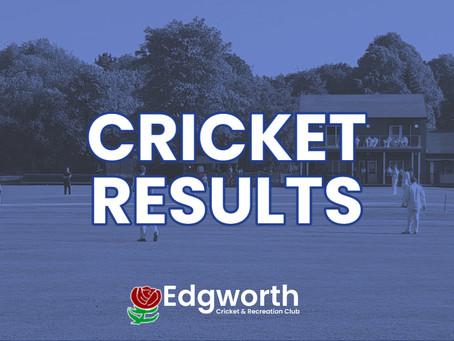 Cricket Results w/c 19th July