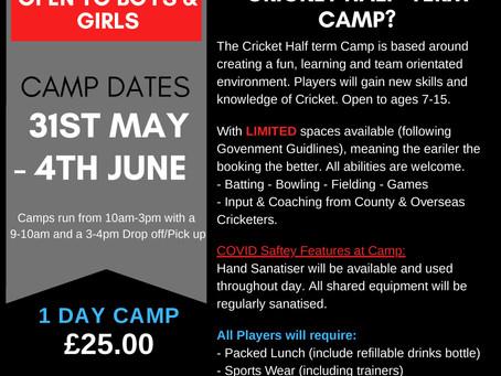 Half Term Cricket Camp