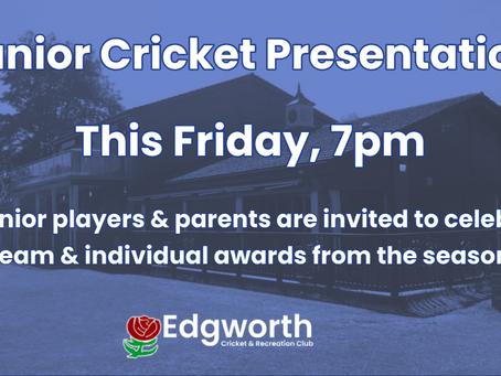 Junior Cricket Presentation