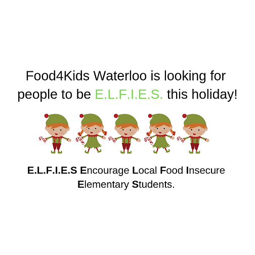 Food4Kids Waterloo is looking for some E