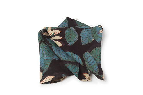 Hand Printed Tropical Pocket Square