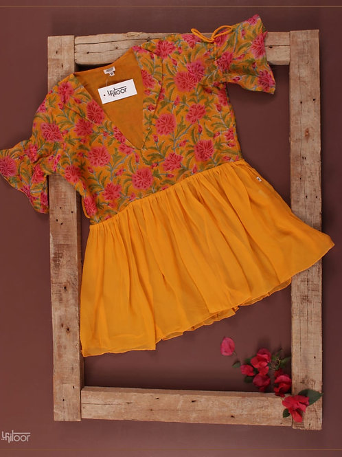 Bell Sleeves Top - Yellow