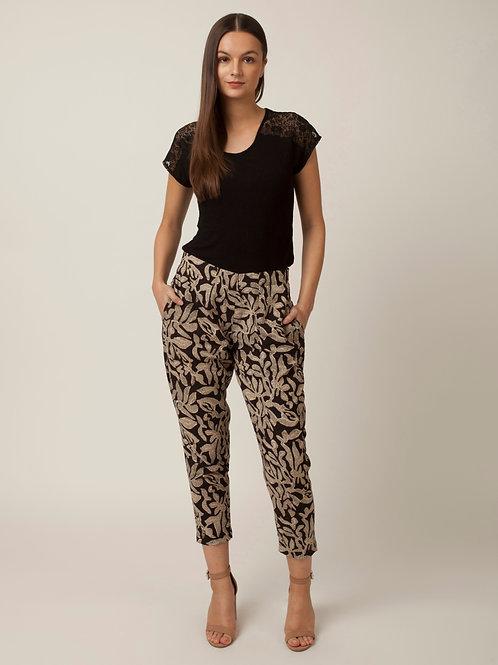 PAKHI STRAIGHT PANTS - BLACK & WHITE