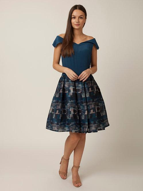 PAKHI OFF SHOULDER DRESS - BLUE