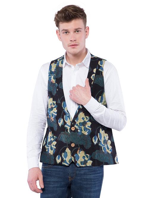 Nishat Dabu Two Button Jacket - Green