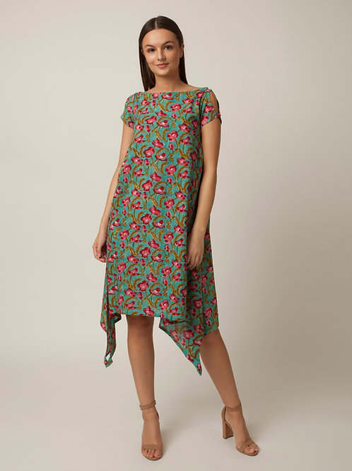 PAKHI SIDE GATHERS DRESS - FLORAL