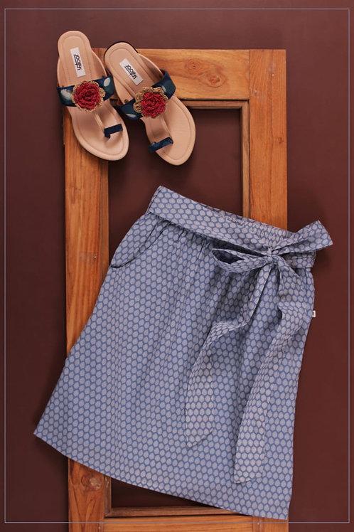 Pakhi Straight Skirt - Blue