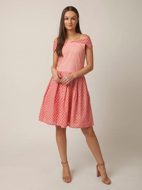 PAKHI OFF SHOULDER DRESS - PINK