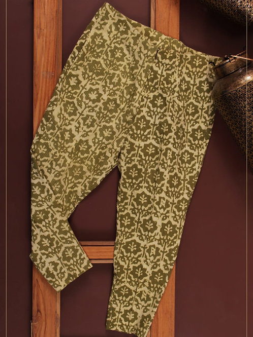 Straight Pants - Kantha Green