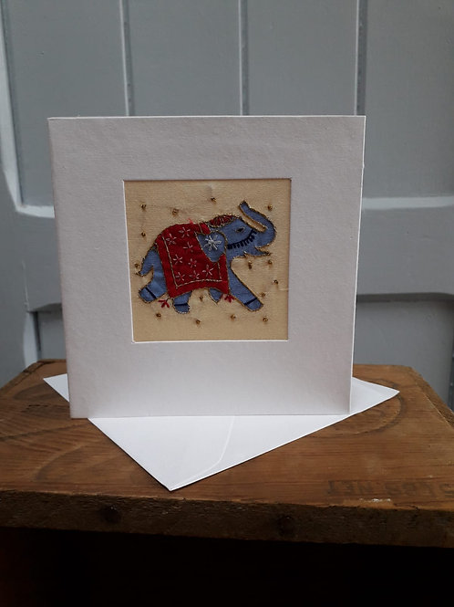 Indian Elephant Card with Envelope