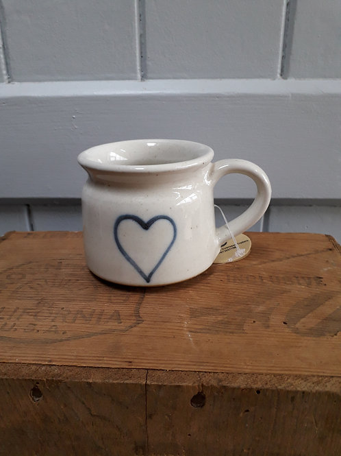 Hand Thrown Heart Mug
