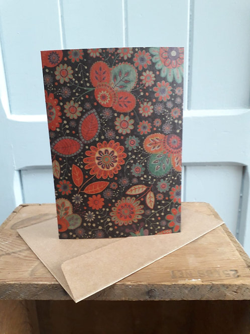 Floral Patterned Card with Envelope