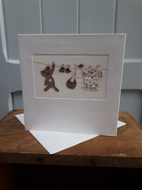 New Baby Card with Envelope