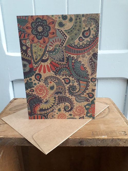 Paisley Patterned Card with Envelope