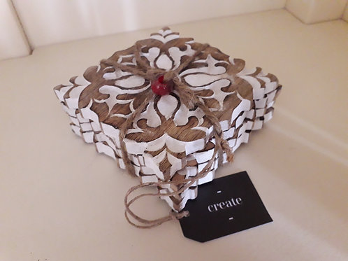 Whitewash Wooden Coasters