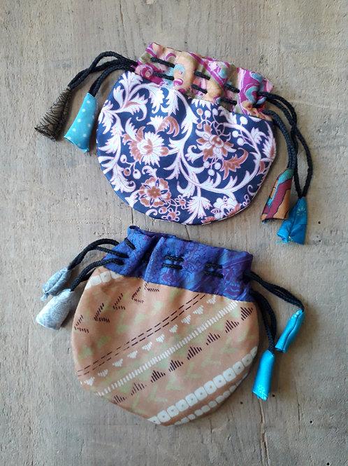 Recycled sari purse
