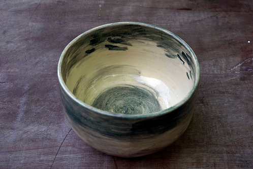 Small smudgy watercolour ceramic bowl