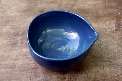 Small stone blue ceramic pouring dish