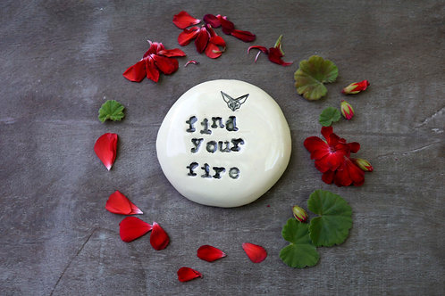 Find Your Fire ceramic magnet