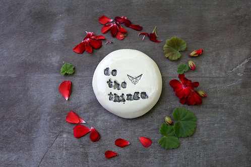 Do The Things ceramic magnet