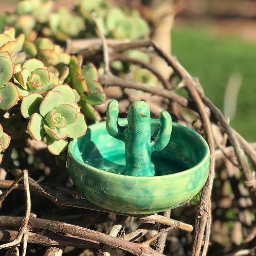 Cactus ring dish - drippy green