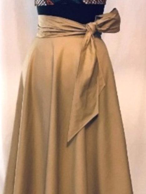 Khaki Skirt w/sash