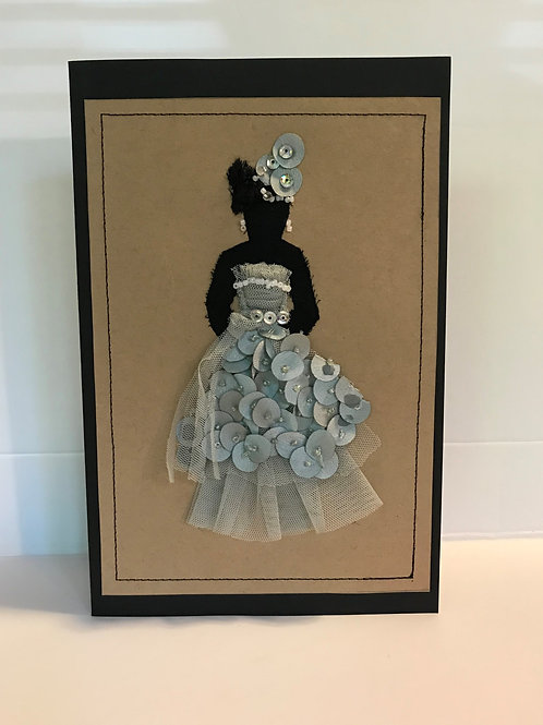 "Greeting Card ""Sea-foam Green Wedding"""