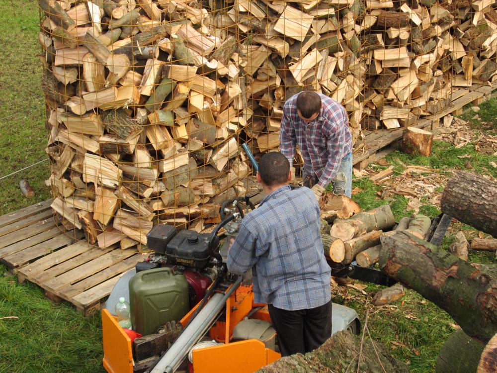 Holz gespalten