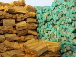 Holz als Sackware