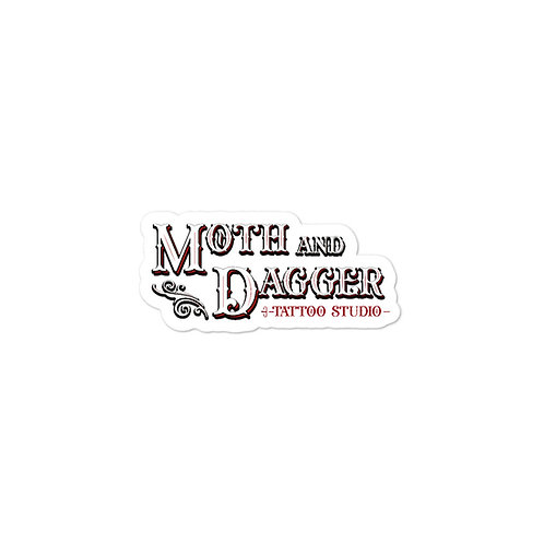 Moth & Dagger Label Sticker