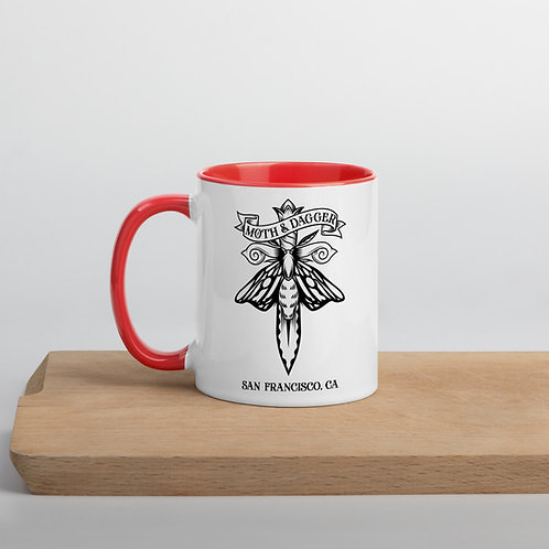 M&D Moth Logo Mug with Color Inside