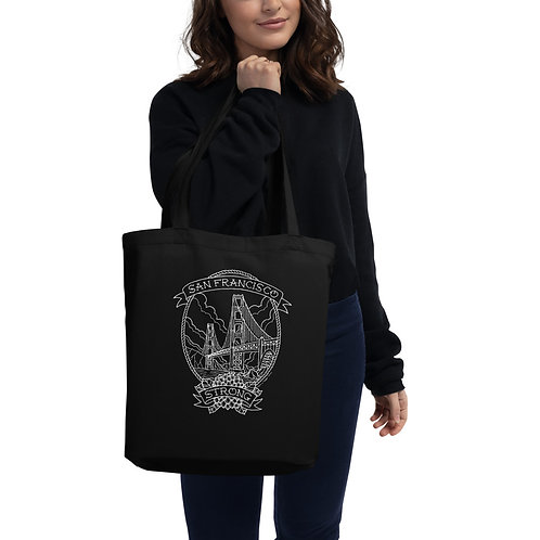 SF Strong White Linework Tote