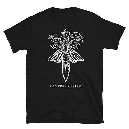 Distressed Moth Short-Sleeve Unisex T-Shirt