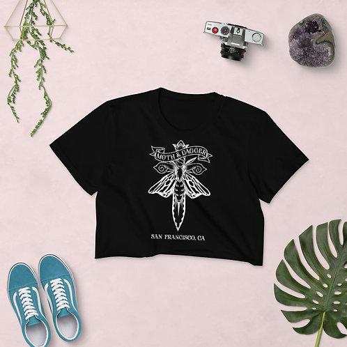 Distressed Moth Women's Crop Top