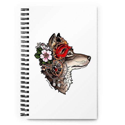Wolfmask Spiral notebook