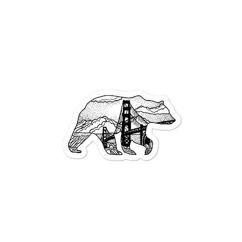 CA Bear Stickers