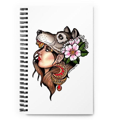 Wolfgirl Spiral notebook
