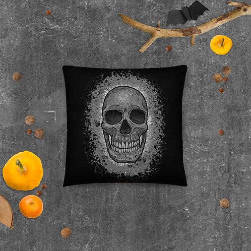 Splash Skull Throw Pillow