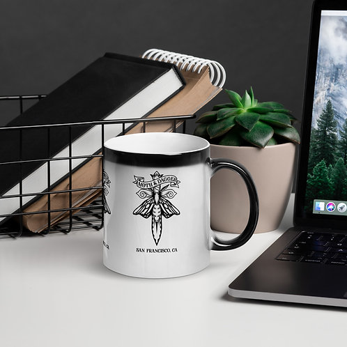 M&D Moth Logo Glossy Magic Mug