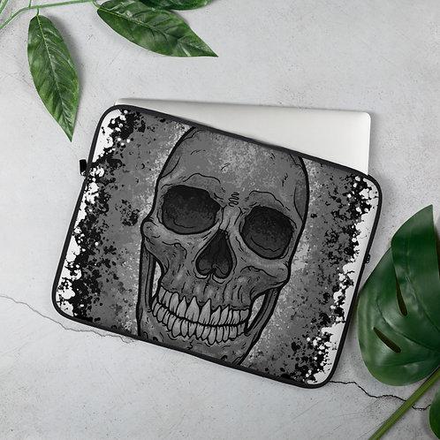 Skull Splash Laptop Sleeve