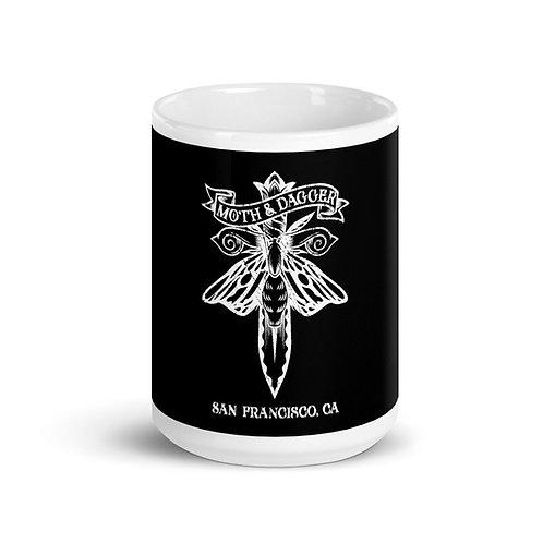 White SF Moth 15oz Mug