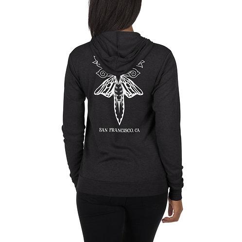 M&D Back print Unisex zip hoodie