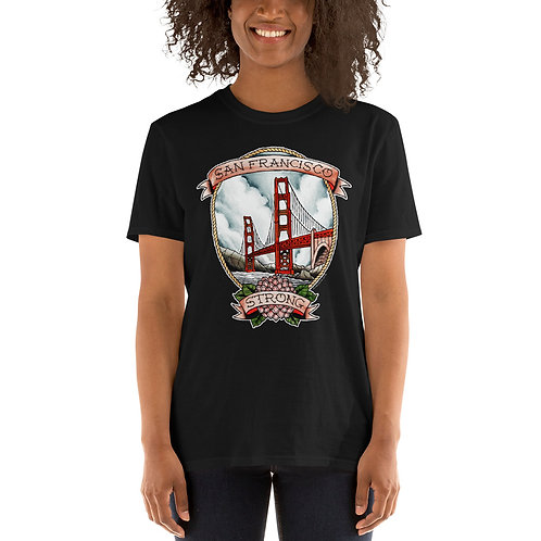 Full Color SF Strong Dark Unisex Tee (3 Colors)