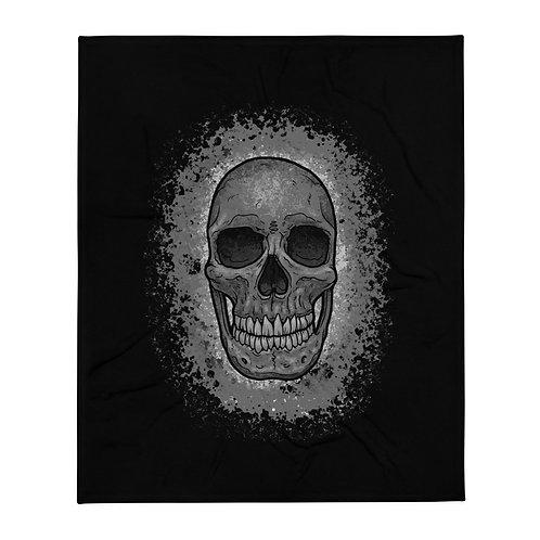 Skull Splash Throw Blanket